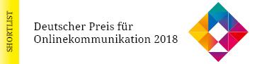 Medizin Mobil - Deutscher Preis Onlinekommunikation 2018